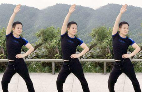 武阿哥廣場舞《想著你親愛的》原創附正背面教學口令分解動作演示