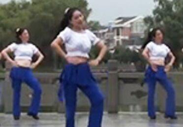 茉莉舞蹈《小苹果》正背面演示及口令分解动作教学和背面演示