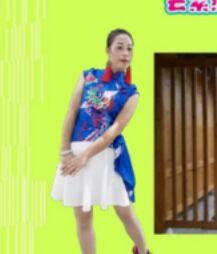 云紫燕舞蹈《网红奶奶舞》正反面演示及分解动作教学