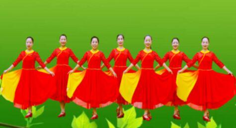 春英廣場舞《母親是中華》附正背表演口令分解動作分解教學