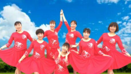 長興彭城芬芳廣場舞《三月三》正背面演示及口令分解動作教學