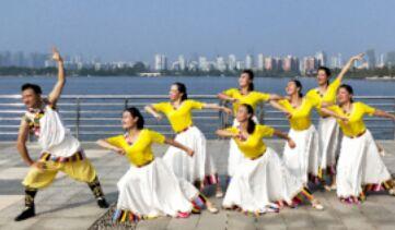 应子舞蹈《穿行》附正背表演口令分解动作分解教学