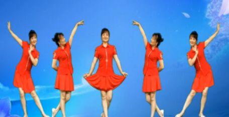 雪儿舞蹈《野花香》原创附正背面教学口令分解动作演示