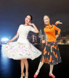 應子廣場舞《東方之珠》正背面演示及口令分解動作教學和背面演示