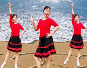 美丽秋霜舞蹈《都说》正反面演示及分解动作教学