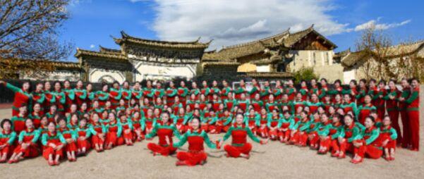 應子廣場舞《踏出一路陽光》正背面口令分解動作教學演示