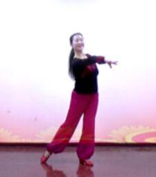 应子舞蹈《再唱为了谁》正背面口令分解动作教学演示