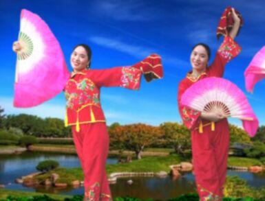 金鼓微笑舞蹈《陕北人》经典正背面演示及口令分解动作教学