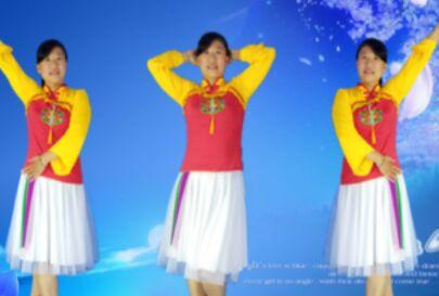 衡水阿梅舞蹈《愿为你跪六千年》正反面演示及分解动作教学