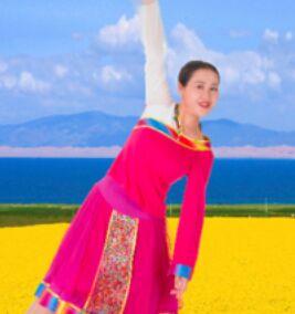 应子舞蹈《康巴情》附正背表演口令分解动作分解教学