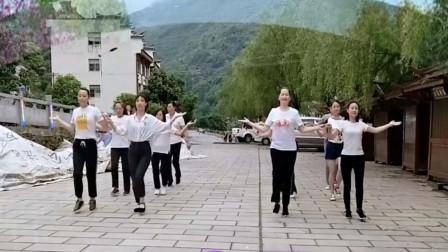 團體雙人對跳《你莫走》正背面口令分解動作教學演示