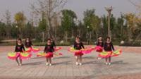 中牟轻舞飞扬舞蹈队广场舞《张灯结彩》原创舞蹈 表演 团队版