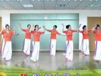 清盈百合广场舞《听风听雨听见你》原创舞蹈 团队版教学演示