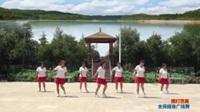陕西华阴罗敷台头村舞蹈队广场舞 雨打芭蕉 表演 团队版