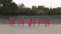 郑州舞动华府广场舞《芦花美》原创舞蹈 正背面表演 团队版
