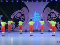 河北廊坊星月廣場舞《五環之歌》原創舞蹈 背面展示