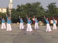 泰安高华广场舞队广场舞《春风渡水》原创舞蹈 表演 团队版