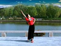 石家庄花姿广场舞队广场舞《向往的地方》原创舞蹈 个人正背表演与动作分解