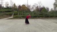 安微合肥开心舞蹈队广场舞《情定卡瓦格博》正背表演与动作分解 个人版