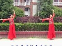 珍儿广场舞《蓝色雨》编舞珊珊 正背面演示