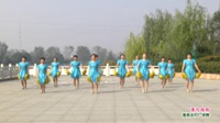 河南省项城市乐舞健身队广场舞  张灯结彩 表演 团队版