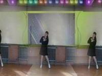 北塘疃红儿美广场舞《我的男神》原创舞蹈 正背面演示 舞曲帅帅蓝天