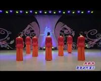 河北廊坊星月舞蹈队广场舞 拜新年(背身) 表演 团队版