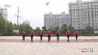 武汉黄陂横店开心舞蹈队广场舞《来生愿做一朵莲》表演 团队版