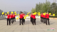 河南省项城市阳光健身指导站广场舞  映山红 表演 团队版