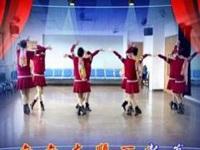 清盈百合广场舞《新年一起旺》原创32步对跳 正背面演示