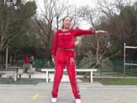 蓝莓思洁广场舞《张灯结彩》原创拜年舞 附口令分解动作教学演示