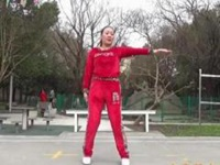 蓝莓思洁广场舞《张灯结彩》原创喜庆拜年舞 附正背面口令分解教学演示