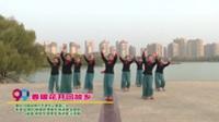 河南省焦作市老年记着团三队广场舞  春暖花开回故乡 表演 团队版