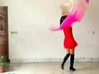 阿采广场舞《新年一起旺》原创32步扇子舞 附正背面口令分解教学演示