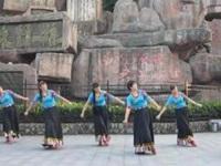 太湖彬彬广场舞《我的九寨》原创藏族舞 附正背面口令分解教学演示