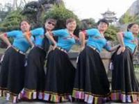 太湖彬彬广场舞《美丽的卓玛》原创藏族舞 附正背面口令分解教学演示