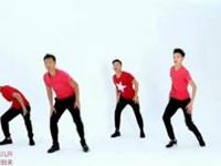 王廣成廣場舞《福門開好運來》原創新年喜慶扇子舞 正背面口令分解教學演示
