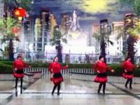 羽蝶广场舞《张灯结彩》原创新年舞  附口令分解动作教学演示