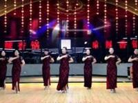 林州芳心广场舞《旗袍》原创拜年舞 附正背面口令分解教学演示