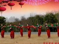 应子广场舞《一起红火火》原创贺岁版 附正背面口令分解教学演示