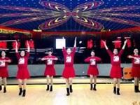 林州芳心广场舞《红红火火中国年》原创新年舞 附正背面口令分解教学演示