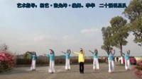 成都李华海洋广场舞队  映山红  正背表演与动作分解  团队版