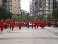 四川韵之舞队《张灯结彩》原创舞蹈 正背面演示