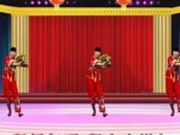 龙游红飞舞广场舞《DJ拜新年》原创拜年舞 正背面口令分解动作教学演示