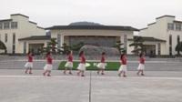 湖北黄梅大河开心姐妹广场舞队广场舞 映山红 表演 团队版