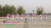 河南省南阳市晶莹舞蹈队广场舞  好一朵女人花 表演 团队版