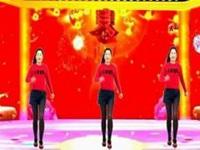 金社广场舞《拜新年》原创简单鬼步舞 正背面口令分解动作教学演示