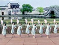 北京加州飞龙广场舞 心恋 表演  团队版 完整版演示及口令分解动作教学
