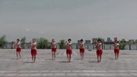 安徽寿县爱舞健身队广场舞 拜新年 表演 团队版 附正背表演口令分解动作分解教学
