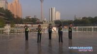 天津朝阳水兵舞队广场舞  心中的歌儿献给金珠玛米 表演 团队版